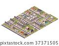 vector, Isometric, suburb 37371505