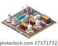 Vector isometric nuclear power plant icon 37371732