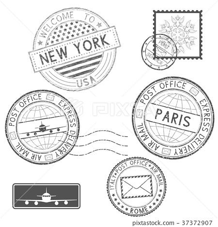 Postmarks and tourist stamps 37372907