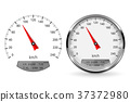 Speedometer. Round gage with and without chrome 37372980