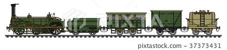 The historical steam train 37373431