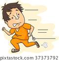 Prisoner Running Handcuffs 37373792