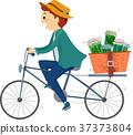 Stickman Man Bike Herbal Medicine Deliver 37373804