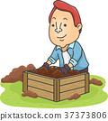 Man Prepare Compost Bin 37373806