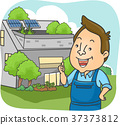 Man Eco House Owner Thumbs Up 37373812