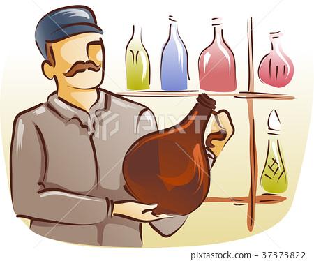 Man Glass Bottle Collector 37373822