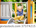 playground, slide, child 37374215