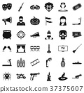 filmstrip, icon, vector 37375607