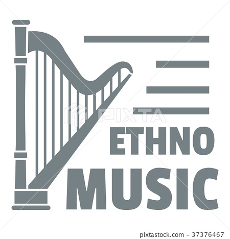 Harp logo, simple gray style 37376467