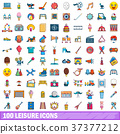 100, leisure, icons 37377212