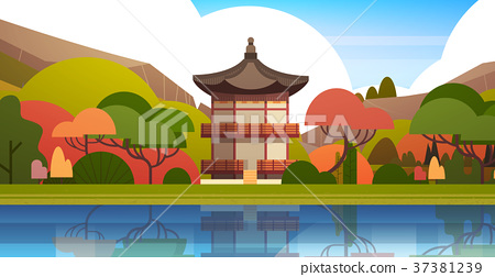 Traditional South Korea Landscape Palace Or Temple 37381239