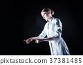 adult, labcoat, application 37381485