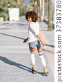 rollerblading, woman, roller 37383780