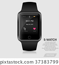 Realistic smart watch modern design, Vector 37383799