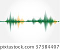 Sound wave ,vector illustration. 37384407