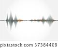 Sound wave ,vector illustration. 37384409