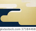 日本纸 - 日本模式 - 背景 - 镀金 - 现代 37384468