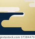 日本纸 - 日本模式 - 背景 - 镀金 - 现代 37384470