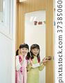 在教室 女孩 女 37385060