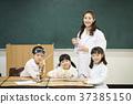 교사, 실험기구, 어린이 37385150