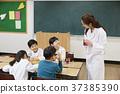 교사, 실험기구, 책상 37385390
