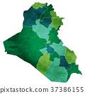 伊拉克地圖國家圖標 37386155