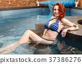 女人 女性 水池 37386276
