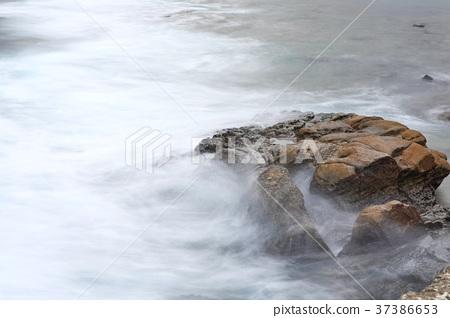 岩石 海浪 流水 37386653