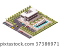 Vector isometric office building icon 37386971