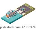 vector isometric ferry 37386974