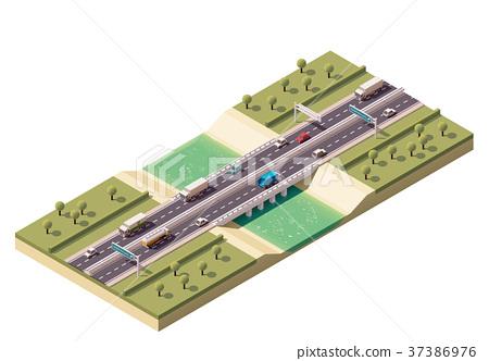 Vector isometric bridge 37386976