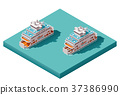 Vector isometric ferry 37386990