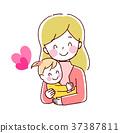 아기와 엄마의 일러스트 37387811