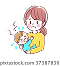 Illustration of baby and mother 37387830