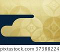 日本纸 - 日本模式 - 背景 - 镀金 - 现代 37388224
