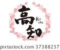 โคจิ,การคัดลายมือ,ดอกซากุระบาน 37388237