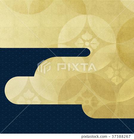 日本纸 - 日本模式 - 背景 - 镀金 - 现代 37388267