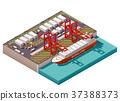 Vector isometric cargo port 37388373