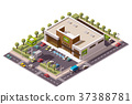 Isometric, vector, supermarket 37388781