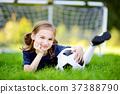 Cute little soccer player  37388790