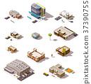 Vector isometric buildings set 37390755