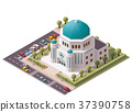 Vector isometric synagogue 37390758