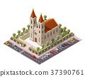 Vector isometric church 37390761