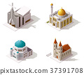 Vector isometric places of worship 37391708