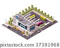 Vector isometric bus station 37391968