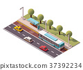 Vector isometric bus stop 37392234