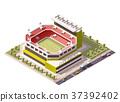 Vector isometric stadium 37392402