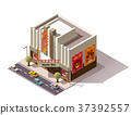 vector, Isometric, building 37392557