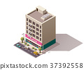 Vector isometric building 37392558