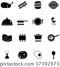 cooking icon set 37392973